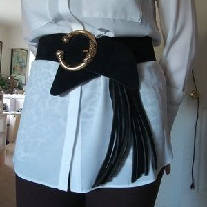 """Suede and Leather Belt 30"""""""